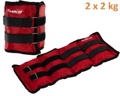 MOVIT záťažové manžety, 2 x 2 kg červená