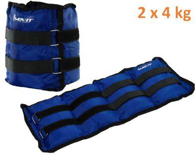 MOVIT záťažové manžety, 2 x 4 kg modrá
