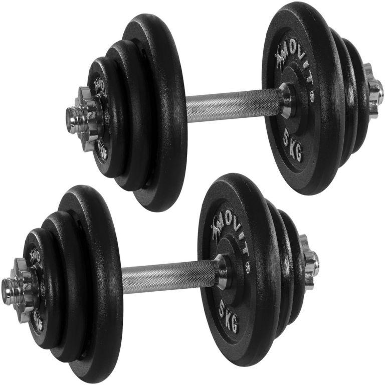 Profesionálna sada činiek MOVIT s celkovou hmotnosťou 40 kg