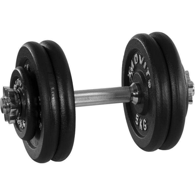 Jednoručná liatinová činka MOVIT – 25 kg