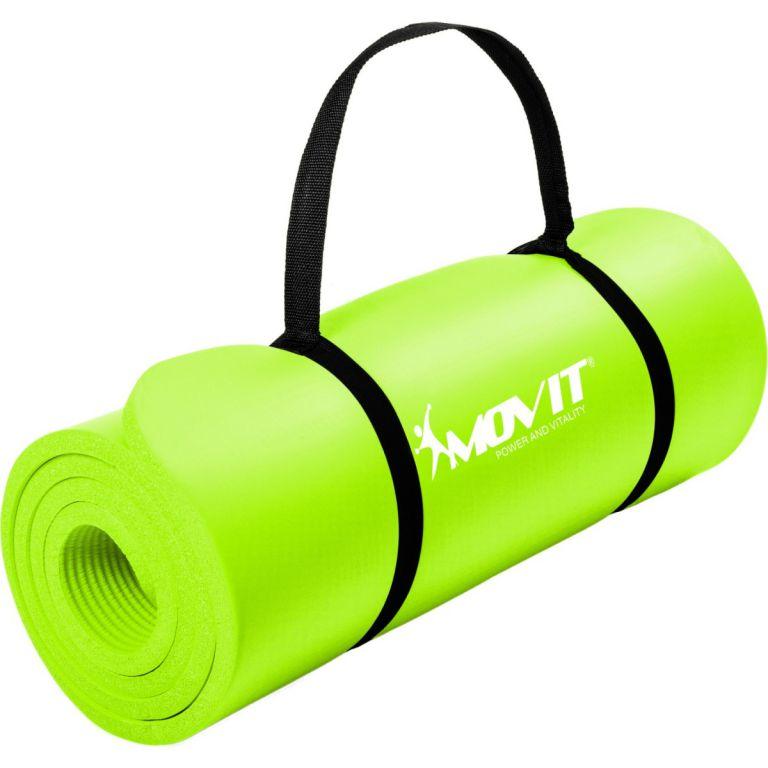 Podložka na jógu MOVIT 190 x 60 x 1,5 cm – svetlo zelená