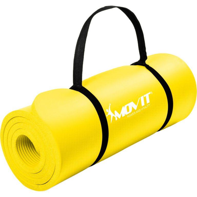 Podložka na jógu MOVIT 190 x 60 x 1,5 cm – žltá
