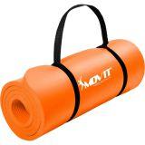 Podložka na jógu MOVIT 190 x 60 x 1,5 cm – oranžová