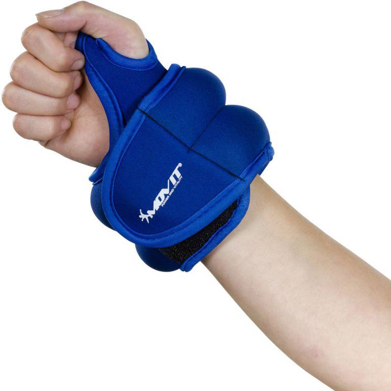 MOVIT neoprénová kondičná záťaž 1,5 kg, modrá