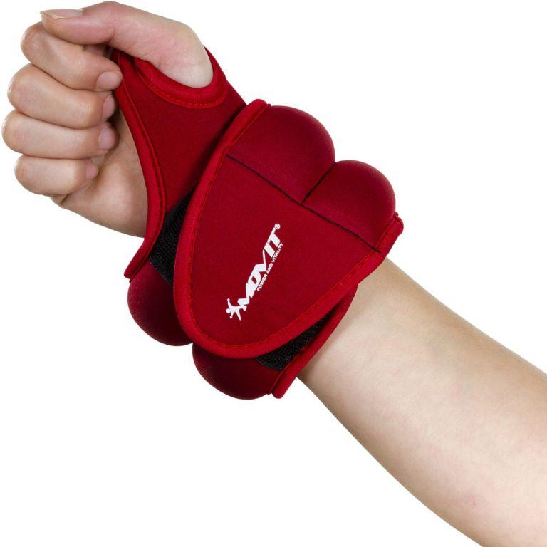 MOVIT neoprénová kondičná záťaž 1 kg, červená
