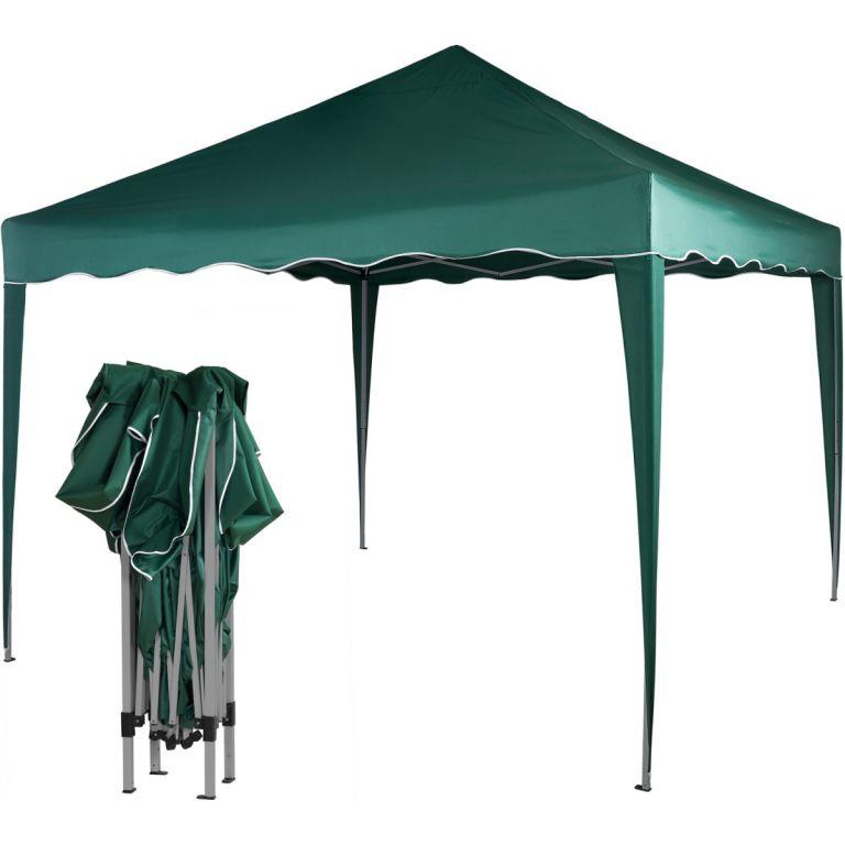 Záhradný párty stan nožnicový 3x3 m - zelený