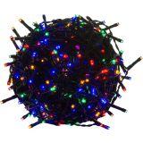 Vianočné LED osvetlenie 10 m - farebné 100 LED - zelený kábel