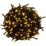 Vianočné LED osvetlenie 60 m - teplá biela 600 LED - zelený kábel