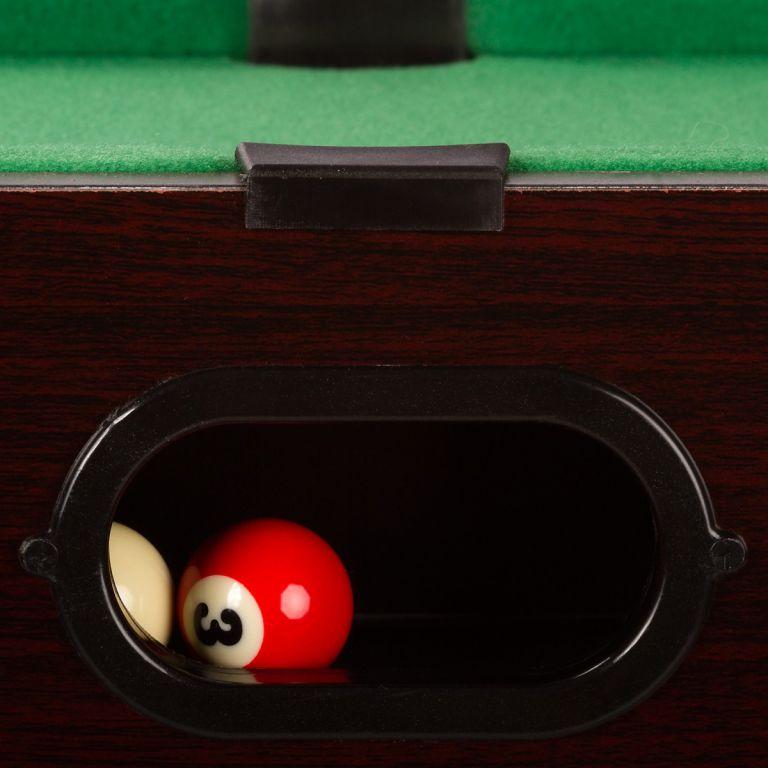 Mini biliard pool s príslušenstvom 51 x 31 x 10 cm - tmavý