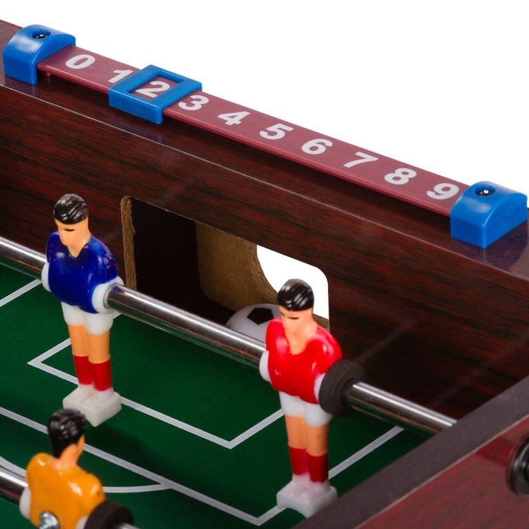 Mini stolný futbal s nožičkami 70 x 37 x 25 cm - tmavý