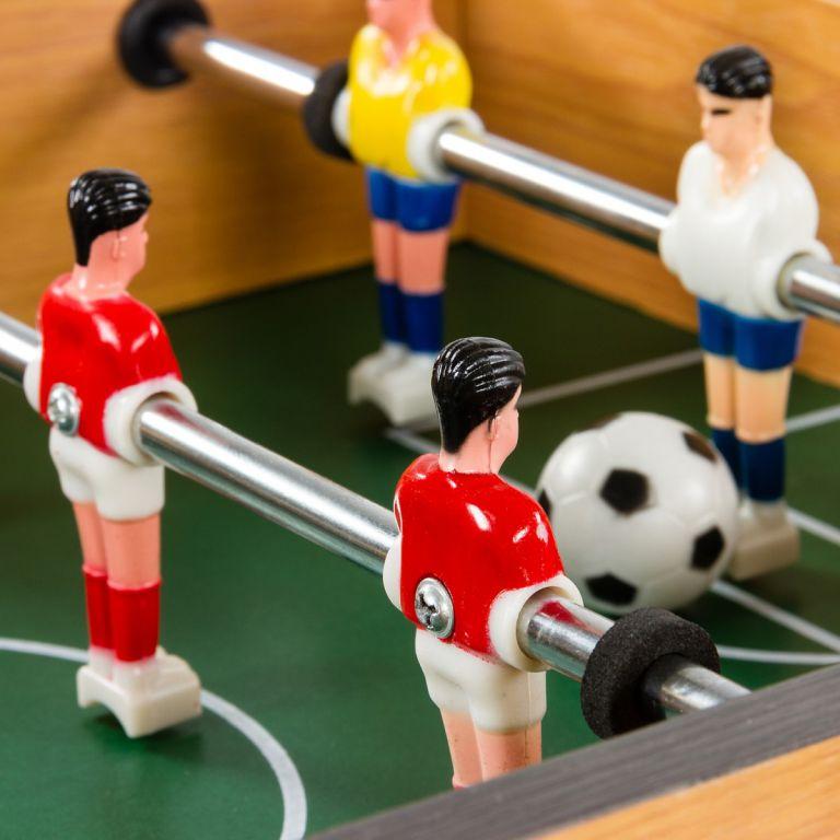 Mini stolný futbal 51 x 31 x 8 cm - čierny