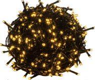 Vianočné LED osvetlenie 5 m - teplá biela 50 LED - zelený kábel