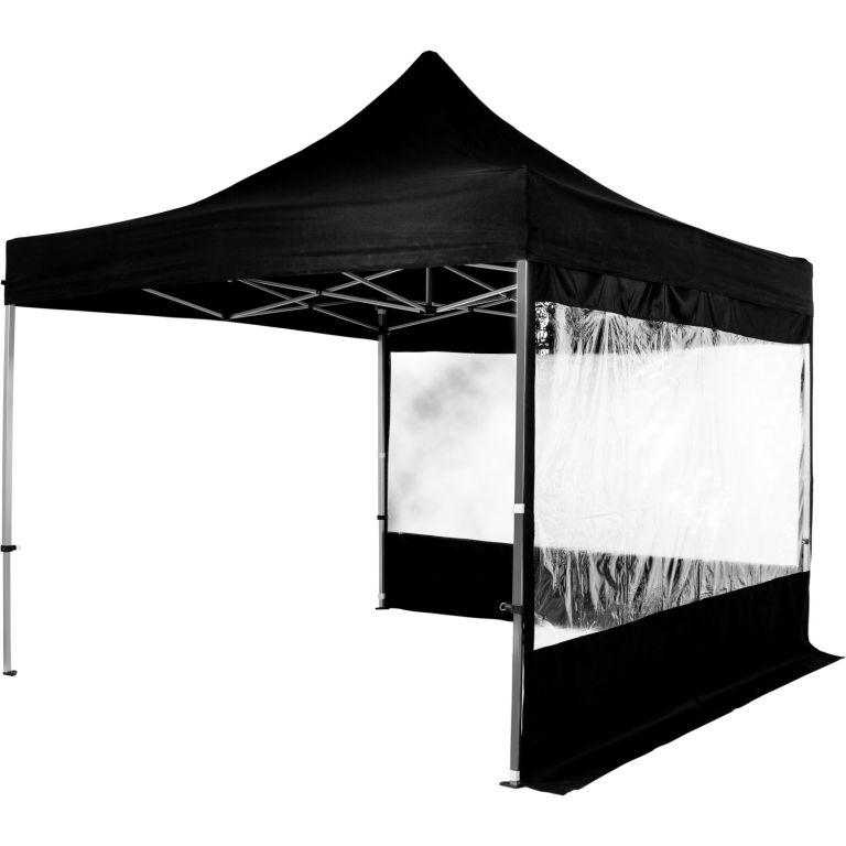 Záhradný párty stan nožnicový INSTENT 3 x 3 m + 2 bočné steny - čierny