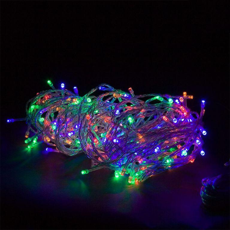 Vianočné LED osvetlenie 20 m - farebná 200 LED + ovládač