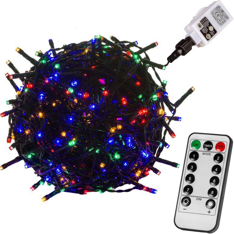 Vianočná reťaz 40m - farebná 400 LED + ovládač