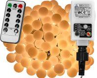 Párty LED osvetlenie 10 m - teplá biela 100 diód + ovládač