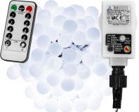 Párty LED osvetlenie 10 m - studená biela 100 diód + ovládač