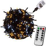 Vianočná reťaz 5 m - teple/studeno biela 50 LED + ovládač