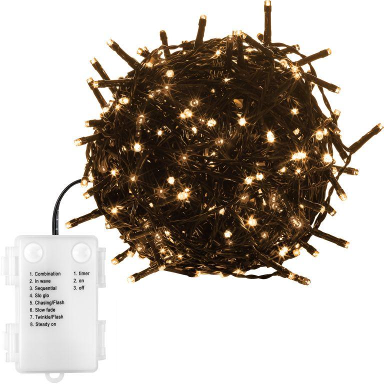 Vianočná reťaz 5 m - teple biela 50 LED na BATÉRIE