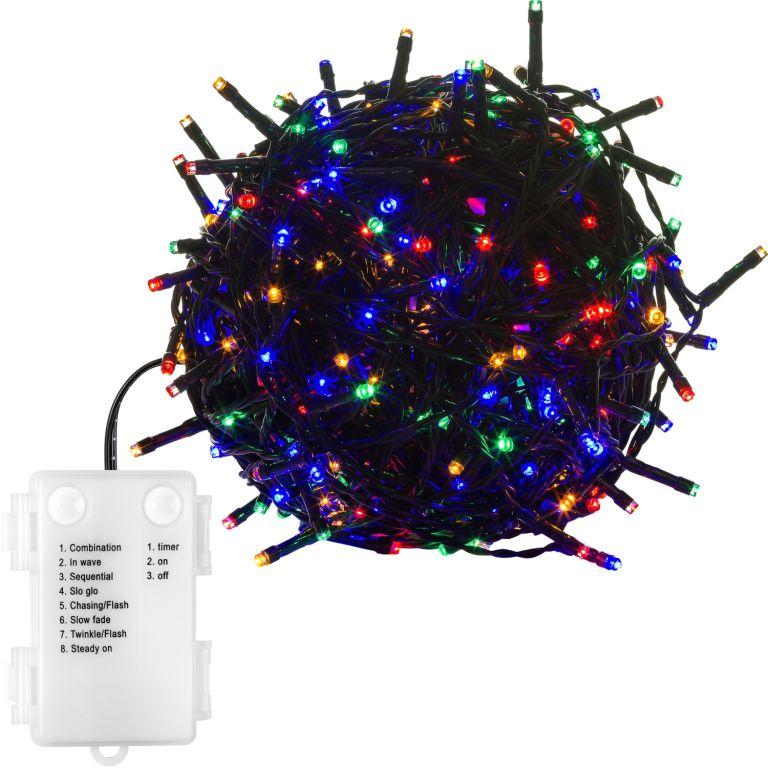 Vianočná reťaz 10m - farebná 100LED na BATÉRIE