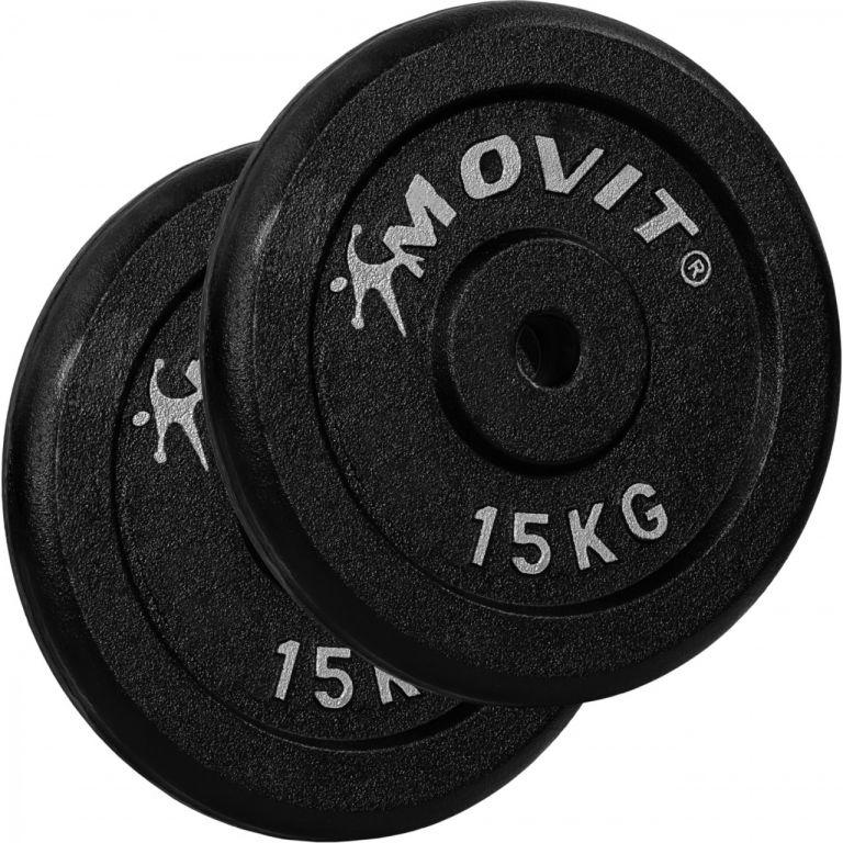 MOVIT sada 2 kusov závažia - 15 kg, liatina