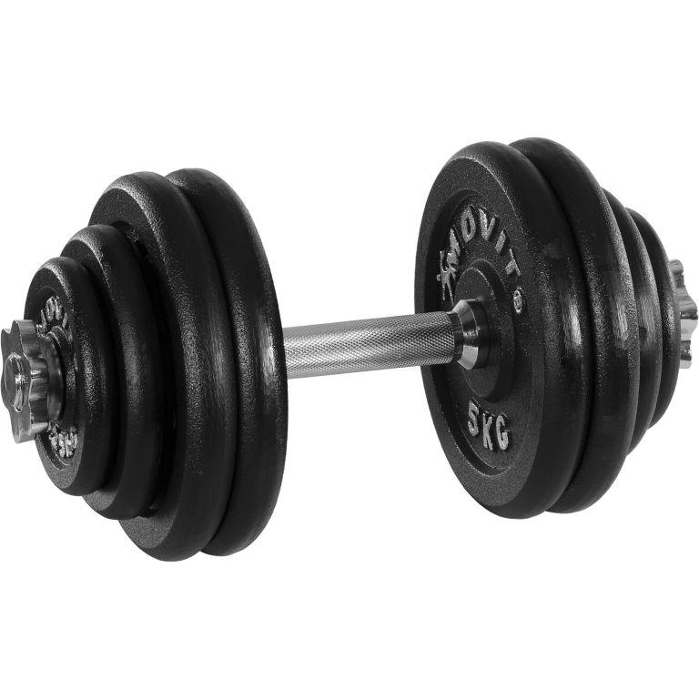 MOVIT profesionálna činka zo závažím 30 kg, liatina