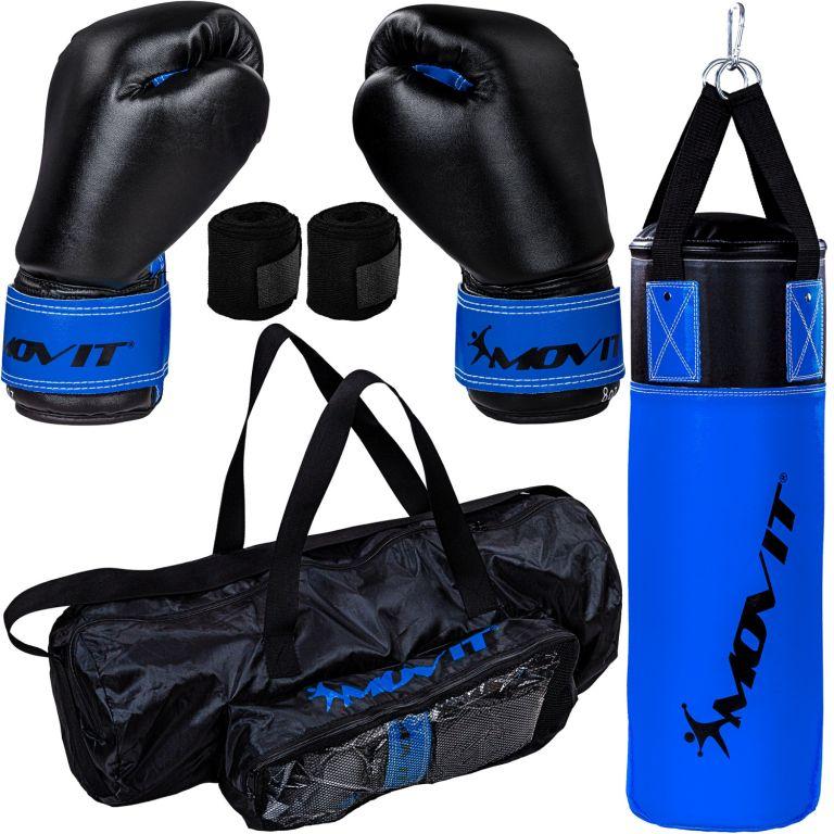 MOVIT Boxovacia sada pre deti modrá / čierna