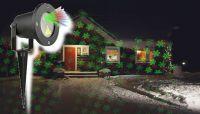 Vianočný laserový projektor - zelená/červená 8 efektov - 20 x 20 m s časovačom