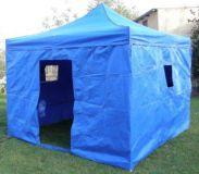 Záhradný párty stan CLASSIC nožnicový + bočné steny II. - 3 x 3 m modrý