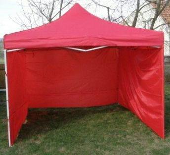 Záhradný párty stan CLASSIC nožnicový + bočné steny - 3 x 3 m červený