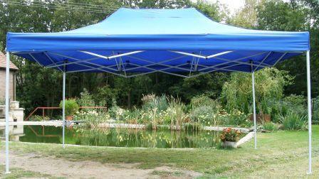 Záhradný párty stan CLASSIC nožnicový - 3 x 4,5 m modrý