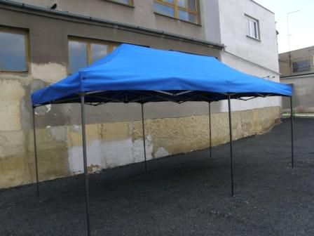 Záhradný párty stan DELUXE nožnicový - 3 x 6 m modrá