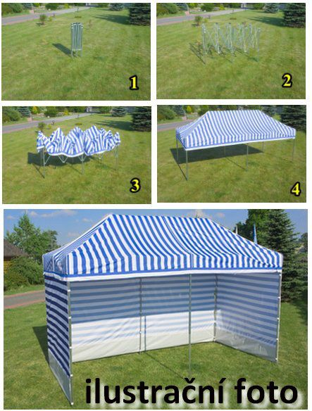 Záhradný párty stan PROFI STEEL 3 x 3 - sivá
