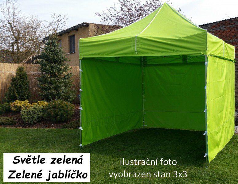 Záhradný párty stan PROFI STEEL 3 x 4,5 - svetlozelená