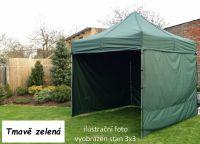 Záhradný párty stan PROFI STEEL 3 x 4,5 - tmavozelená