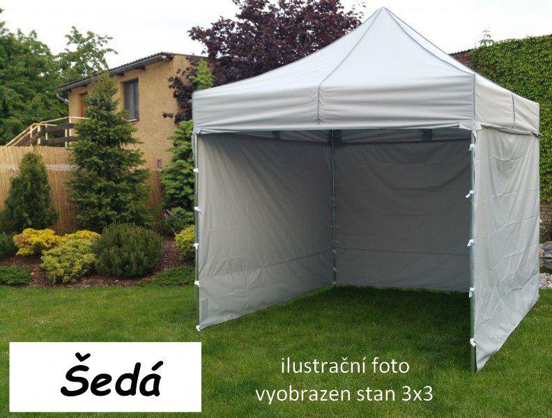 Záhradný párty stan PROFI STEEL 3 x 4,5 - sivá