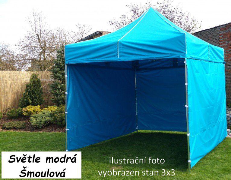 Záhradný párty stan PROFI STEEL 3 x 6 - svetlomodrá