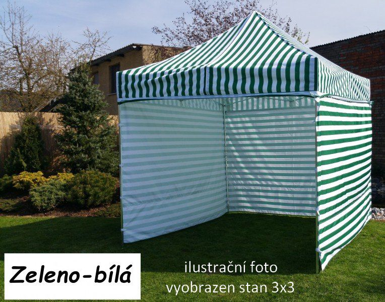 Záhradný párty stan PROFI STEEL 3 x 6 - zeleno-biela