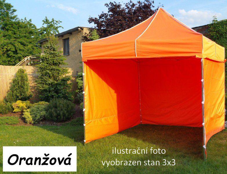 Záhradný párty stan PROFI STEEL 3 x 6 - oranžová