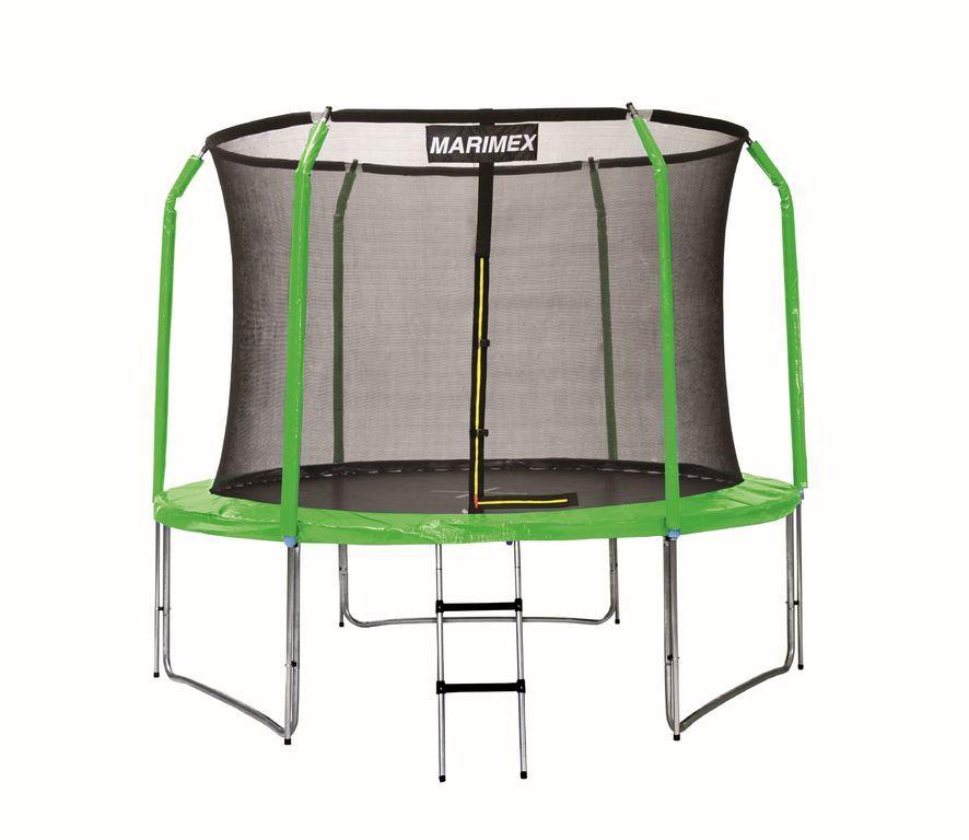 Sada krytov pružín a rukávov na trampolínu - zelená, 366 cm