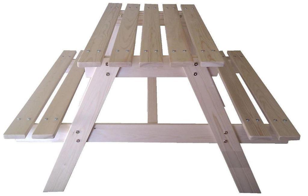 Detská drevená zostava na piknik - 90 x 70 x 50 cm
