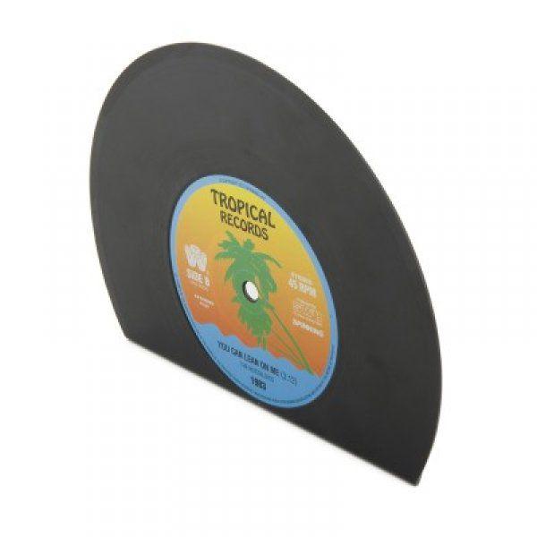 Retro vinylový stojánek na knihy