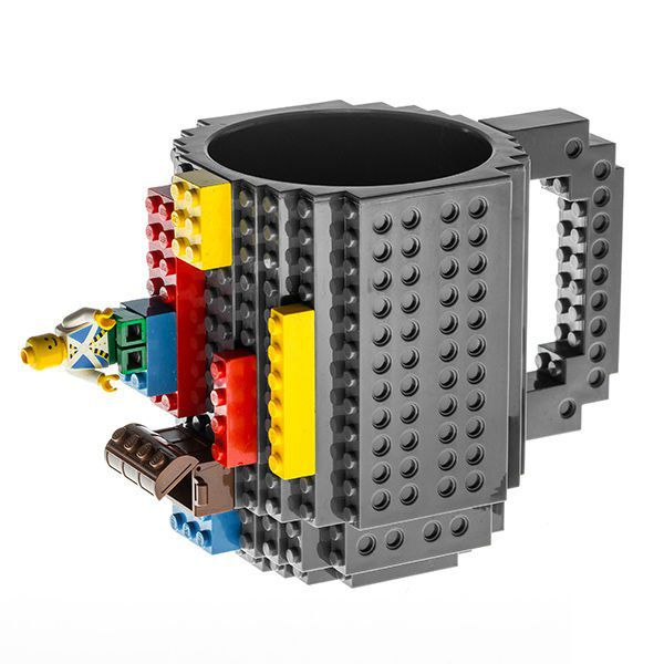 LEGO hrnček - sivá