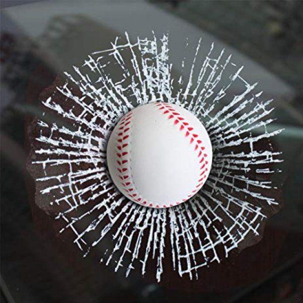 3D Samolepka - rozbité sklo - baseballová loptička