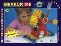 Stavebnice MERKUR 019 Mlýn 10 modelů 182ks v krabici 26x18x5cm