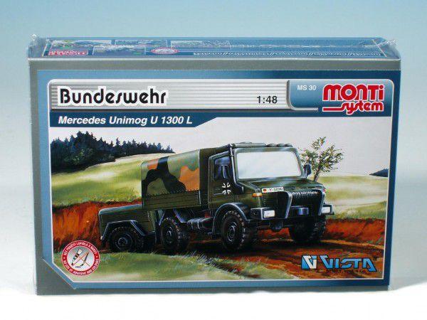 Stavebnice Monti 30 Bundeswehr Mercedes Unimog 1:48 v krabici 22x15x6cm