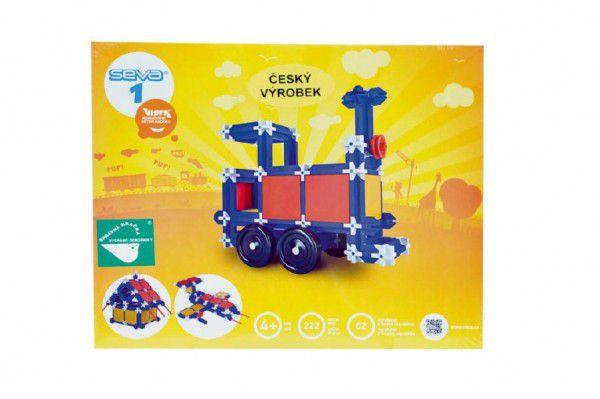 Stavebnice Seva 1 plast 222ks v krabici 34,5x29x4cm