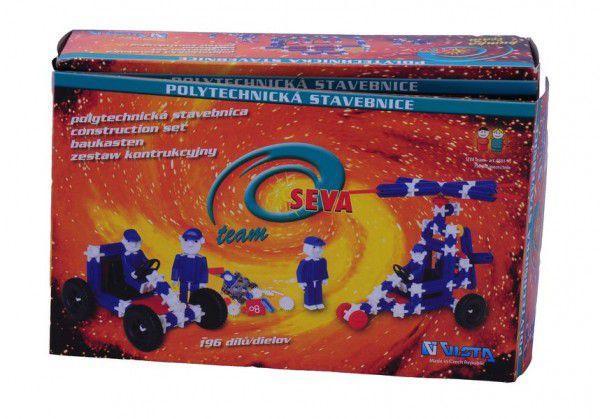 Stavebnice Seva Team plast 196ks v krabici 22x15x6cm