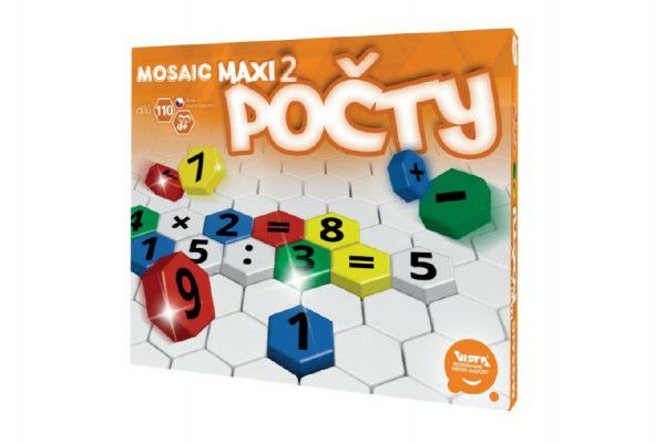 Mozaika Maxi/2 Počty 110ks v krabici 35x29x3,5cm 4+