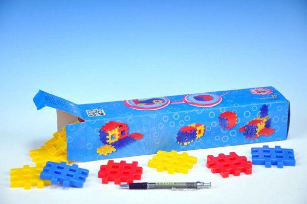 Stavebnice Blok 1 plast 36ks v krabici 34x7x7cm